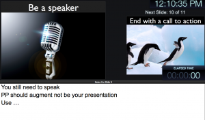 Using Presenters view