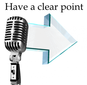 Have a clear point Clear Communication in goal setting