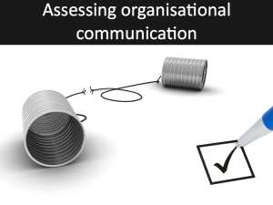 Assessing the impact of organisational communication