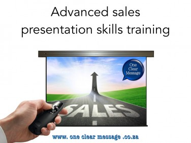 Advanced business sales presentation skills training