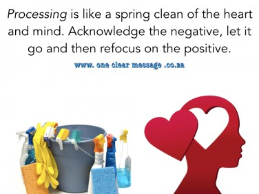 Processing is like a spring clean of the heart and mind