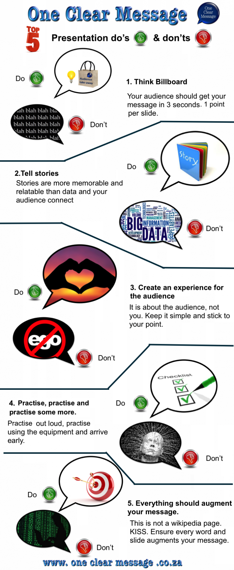 #PresentationSkills Do's and Don'ts. #ThinkBillboard #SlideDesign #Infographic