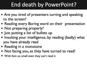 End death by powerpoint.002 real human communication skills