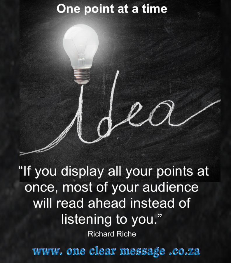Powerful presenter tips for business 1 idea at a time