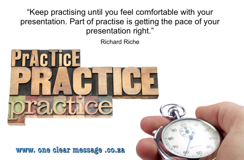 Powerful presenter tips for business practice timing