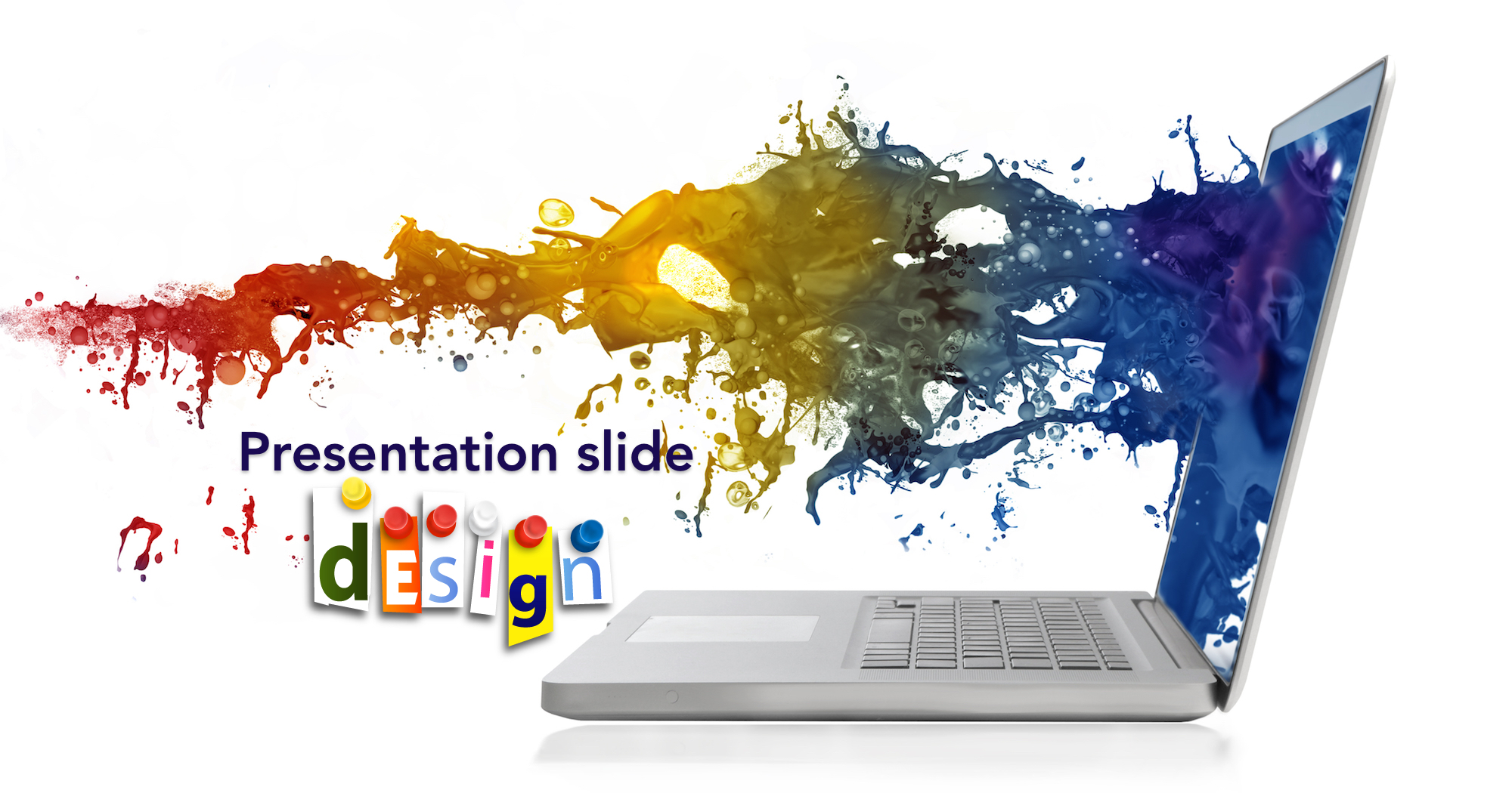 presentation slide design and image selection