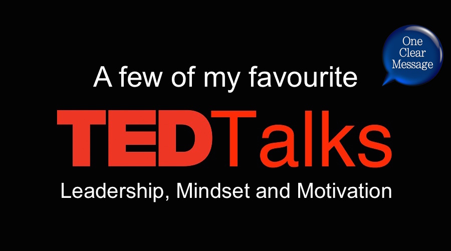 A few favourite TED talks on leadership, mindset and motivation