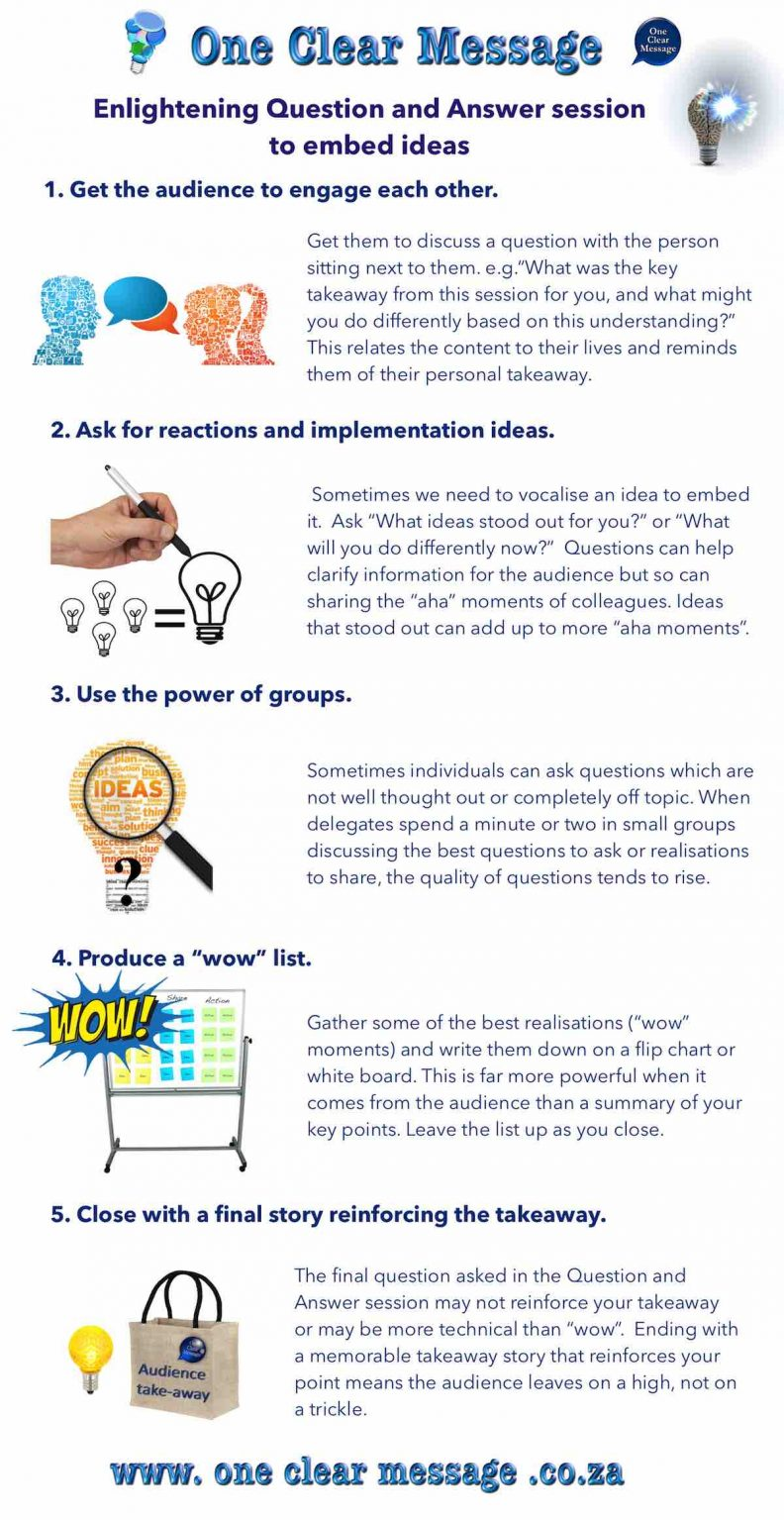 Enlightening question and answer tips infographic