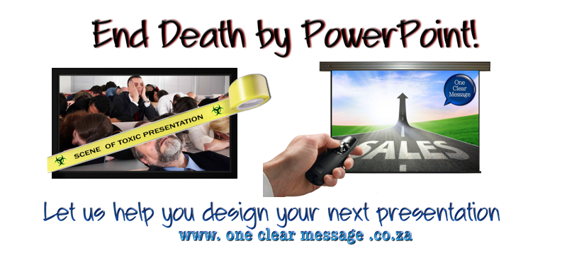 Let us help you end death by powerpoint with slide design and coaching