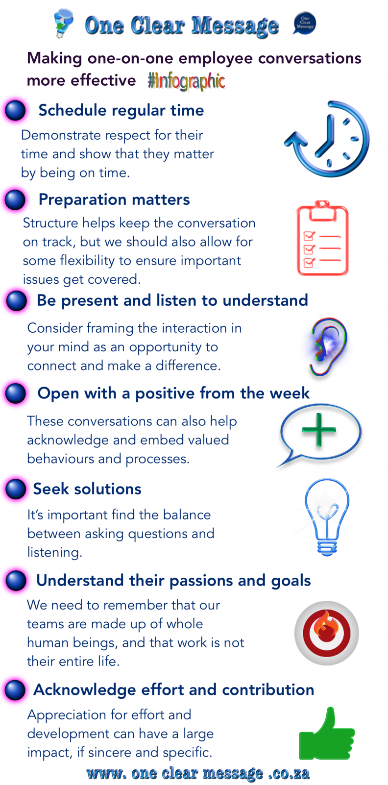 Making one-on-one employee conversations more effective infographic