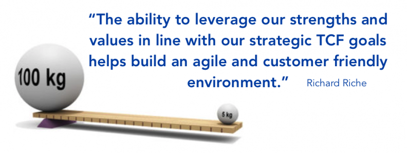 leverage strengths and values to build a TCF culture