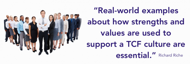 real world examples of TCF values and strengths making a difference