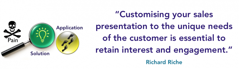 customise your presentation to their specific pain