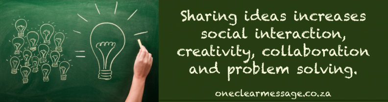 Knowledge sharing increases collaboration and success