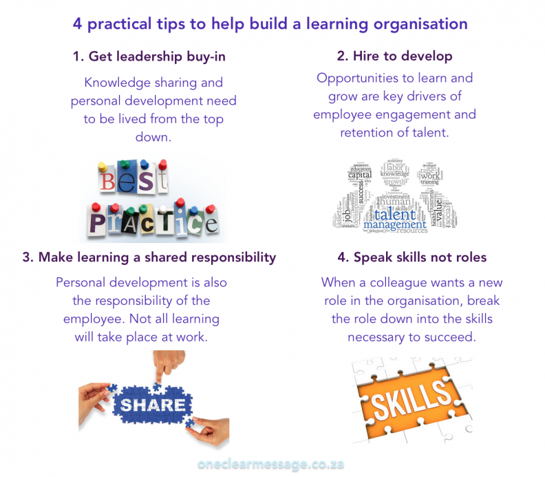 4 practical tips to help build a learning organisation